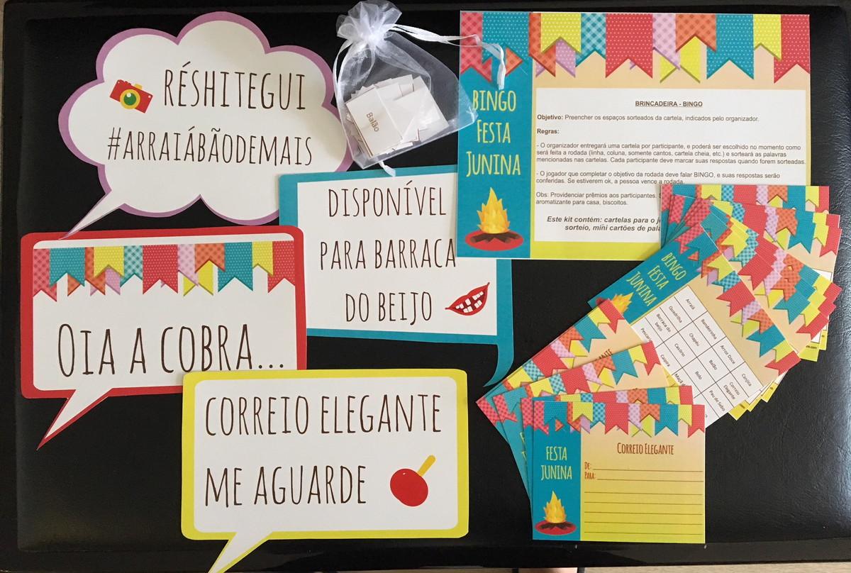 Kit De Brincadeiras E Personalizados Festa Junina No Elo7