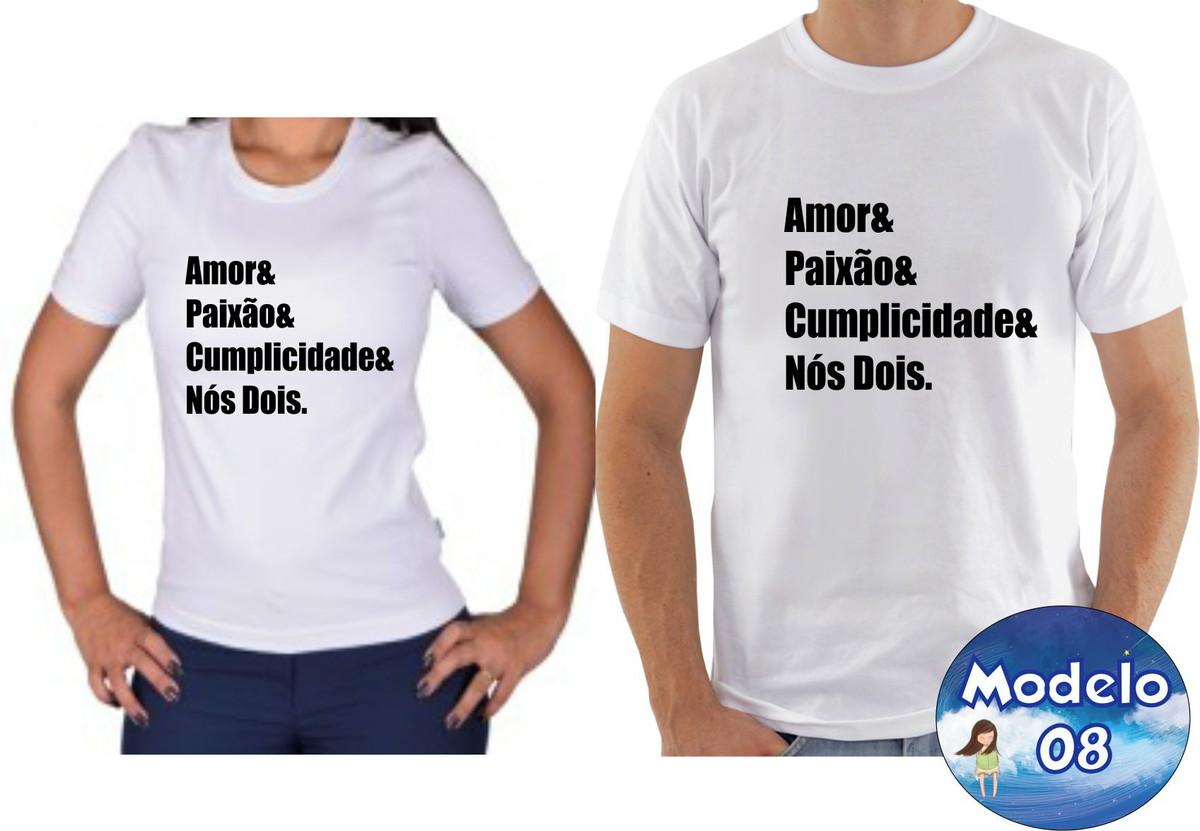 102df9661 Kit camiseta personalizadas namorados casal c 2 no Elo7 ...