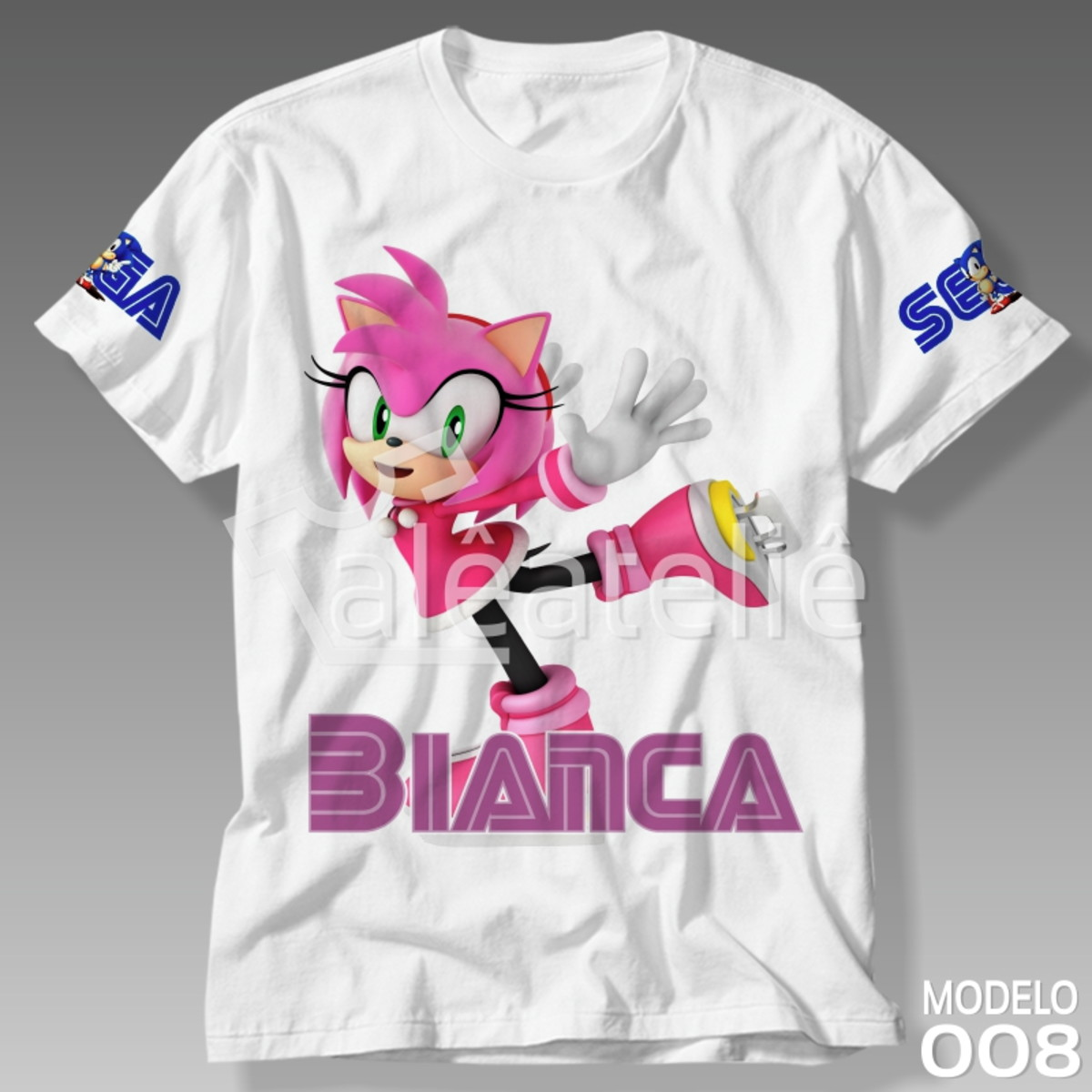 Camiseta Sonic Infantil Tails Amy Rose Shadow Knuckles Mario No
