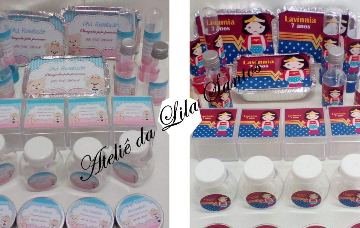 Kit Festa chá Revelação com 120 itens no Elo7  8d5264a386aa2
