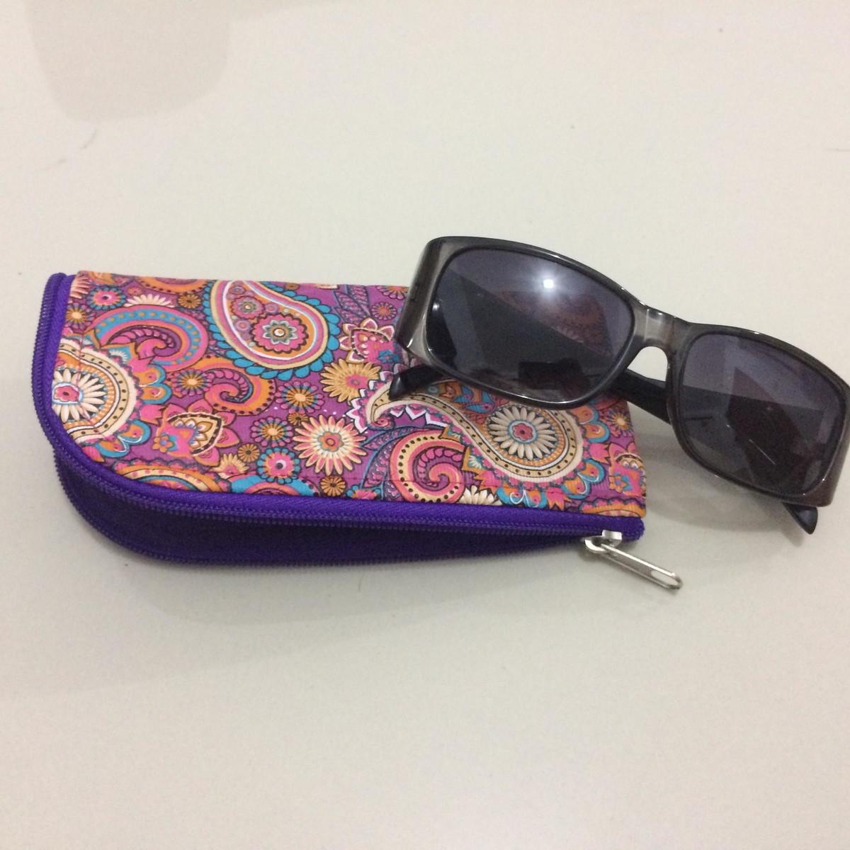 Porta óculos grande com zíper no Elo7   Sweet art Lovers (C383BC) d4f5d1feda