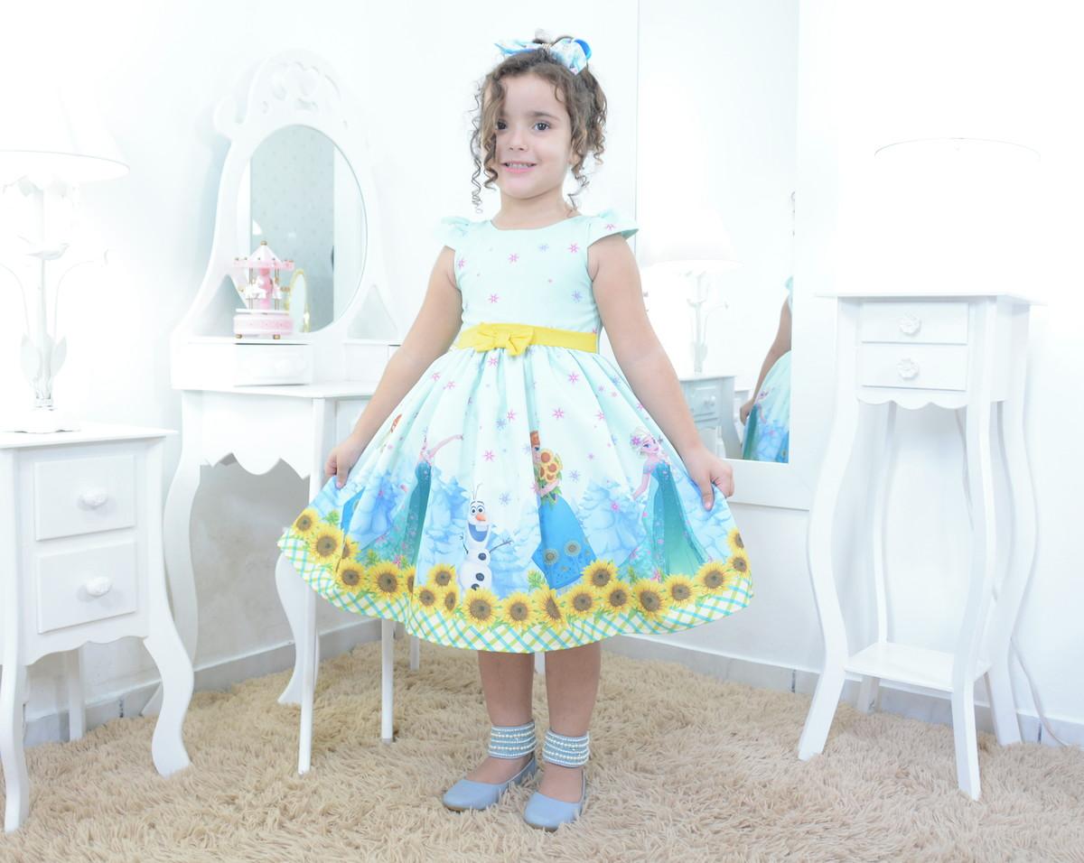 172ed34a5 Vestido festa infantil da Elsa, Anna e Olaf - Frozen Fever no Elo7 ...