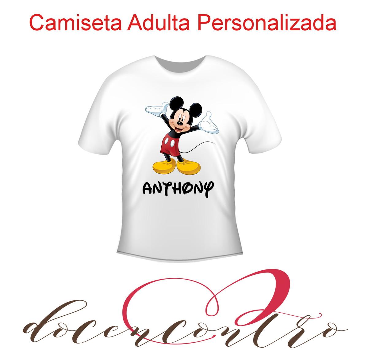 b45458067f Camiseta adulto personalizada no Elo7