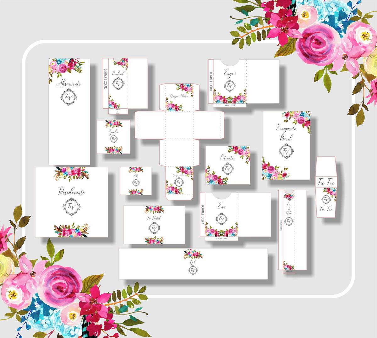 Kit Banheiro Casamento Digital Rosa No Elo7 Fe Franco Artes