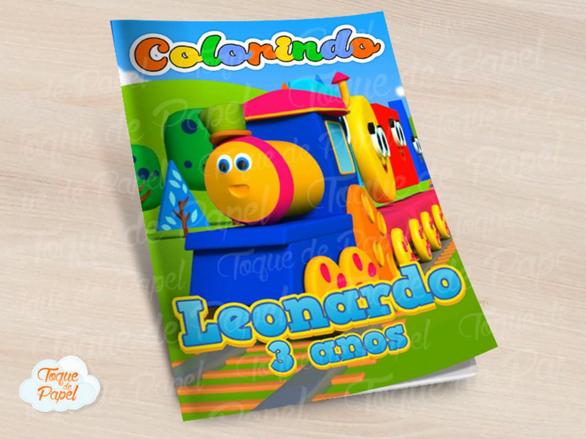 Revista Colorir Bob O Trem Bob Trem No Elo7 Toque De Papel C3c92d