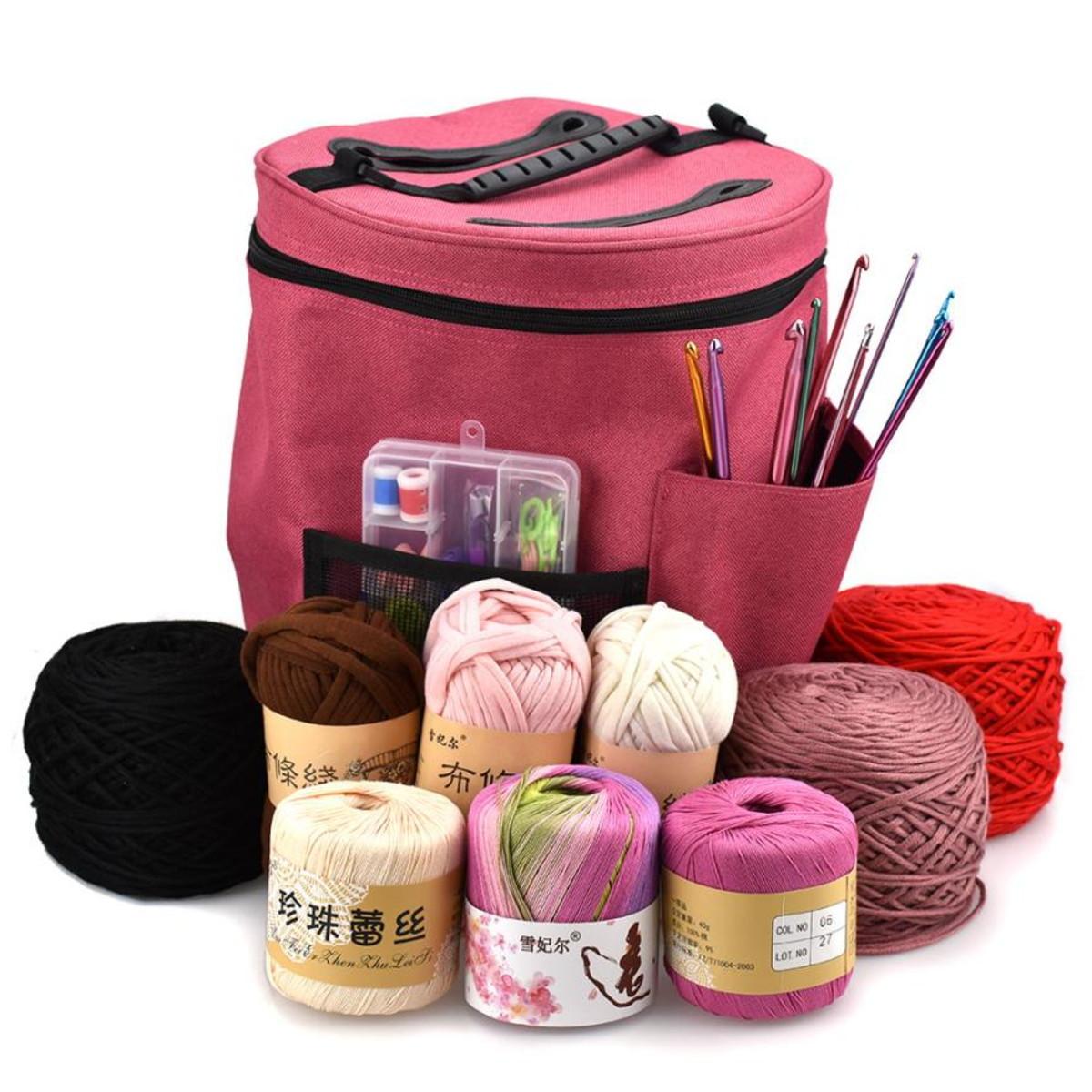 39472914bb Bolsa Organizadora - Bag de Artesanato no Elo7