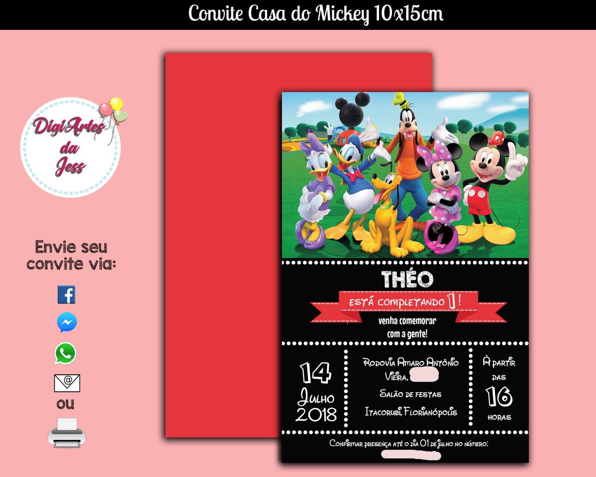 Convite Digital Casa do Mickey - Turma do Mickey no Elo7  95794dac5d0e1