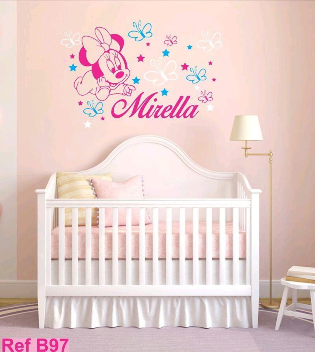de8f2299e3 Decoração quarto bebê Minnie borboletas no Elo7