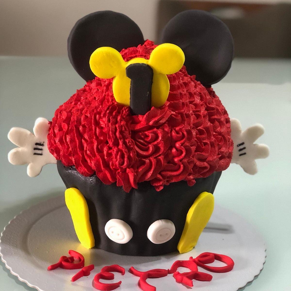 Smash The Cake Mickey Cupcake Gigante No Elo7 Vival Doces C3fb39