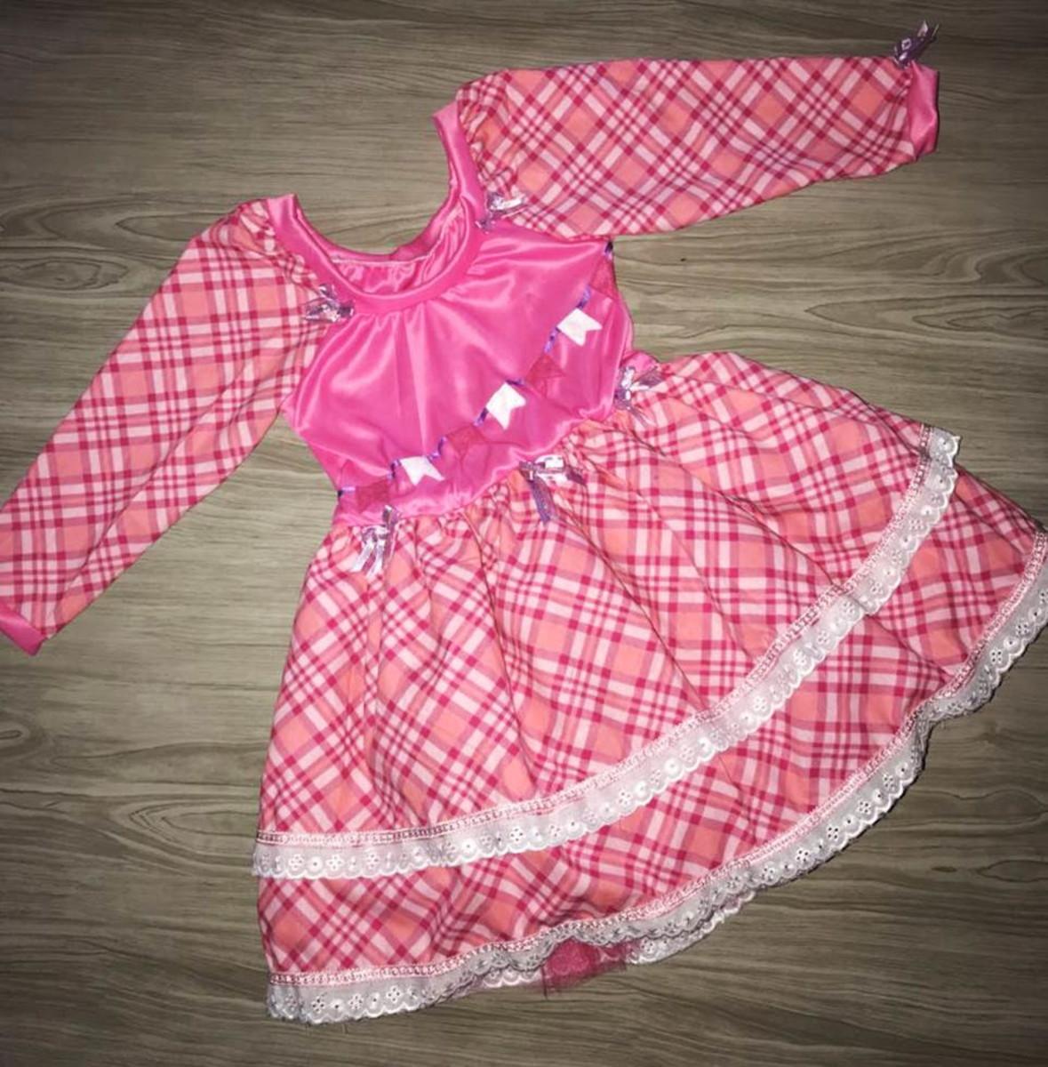 4783100cc97bb vestido caipira junino no Elo7