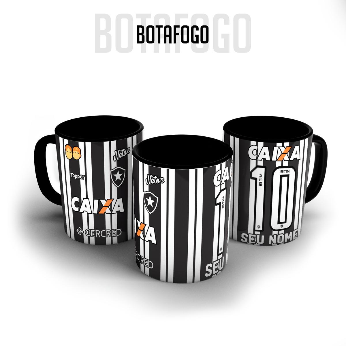 aacc4eb6cf Caneca porcelana - Camisa Botafogo personalizada com nome no Elo7 ...