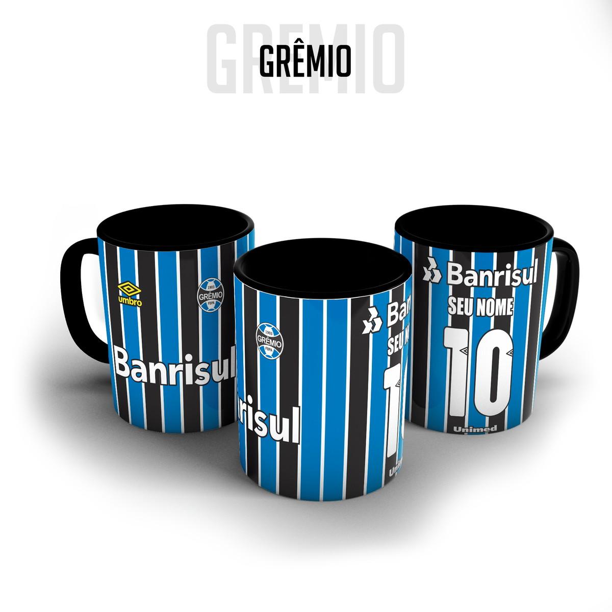 Caneca porcelana - Camisa Grêmio personalizada com nome no Elo7 ... 6f76740584648
