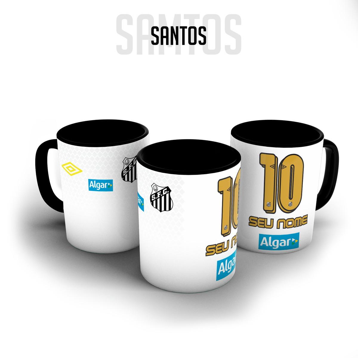8eff7d687a Caneca porcelana - Camisa Santos personalizada com nome no Elo7 ...