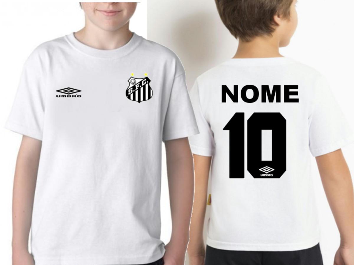 Camiseta Infantil Santos Personalizada com Nome no Elo7  338fa3cd0d49c