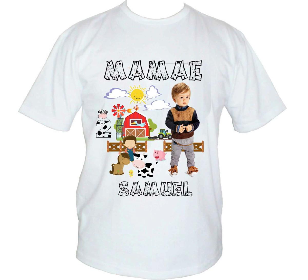 76dcb3ce2 Camisa de Festa personalizada c Foto - Frase - Desenho no Elo7 ...