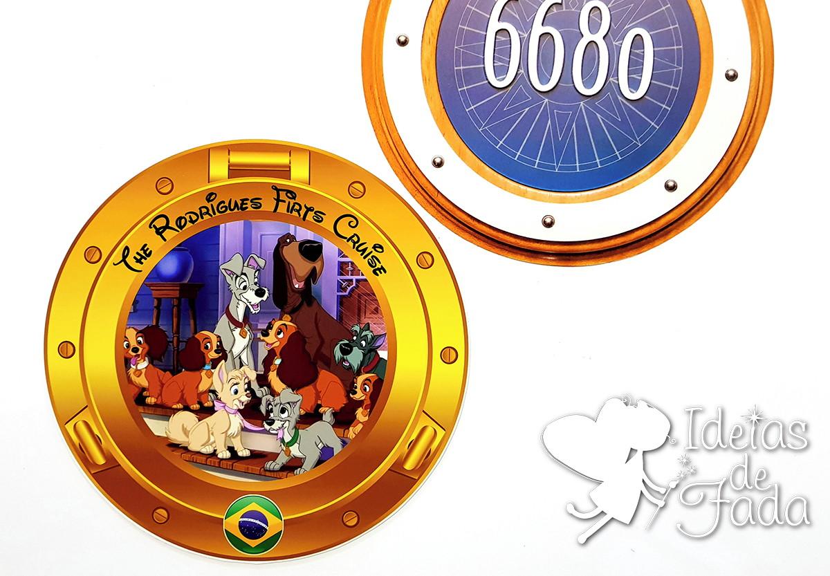 789f6dc35f Janela Cabine A Dama e o Vagabundo Disney Cruise no Elo7