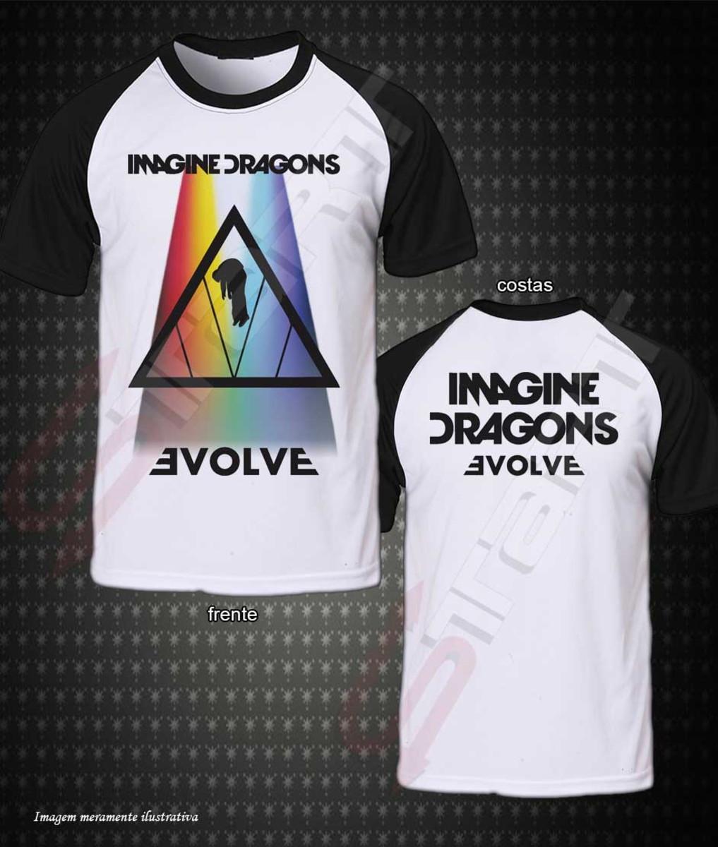 48b32f7f4a Camiseta Raglan Imagine Dragons Evolve no Elo7