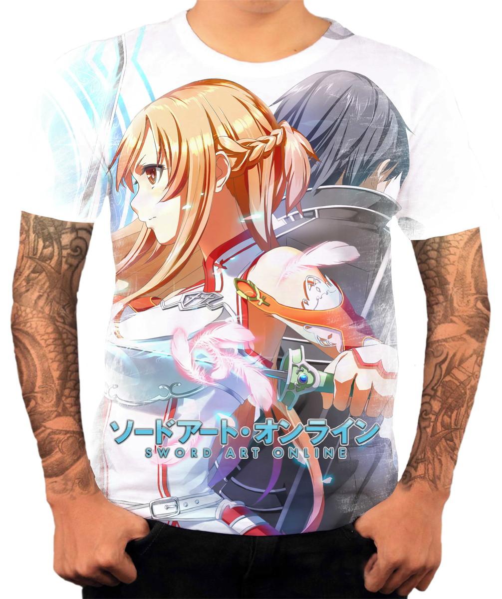 0db5377be Camisa Camiseta Personalizada Anime Sword Art Online 10 no Elo7 ...