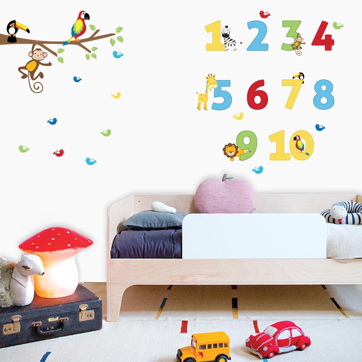 Adesivo De Parede Infantil Números Coloridos No Elo7 Stixx