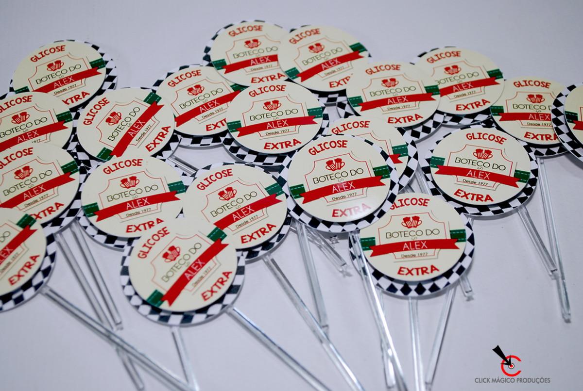 a41ef2cc9693c Topper para doce - Boteco Logo Vermelho e Creme no Elo7