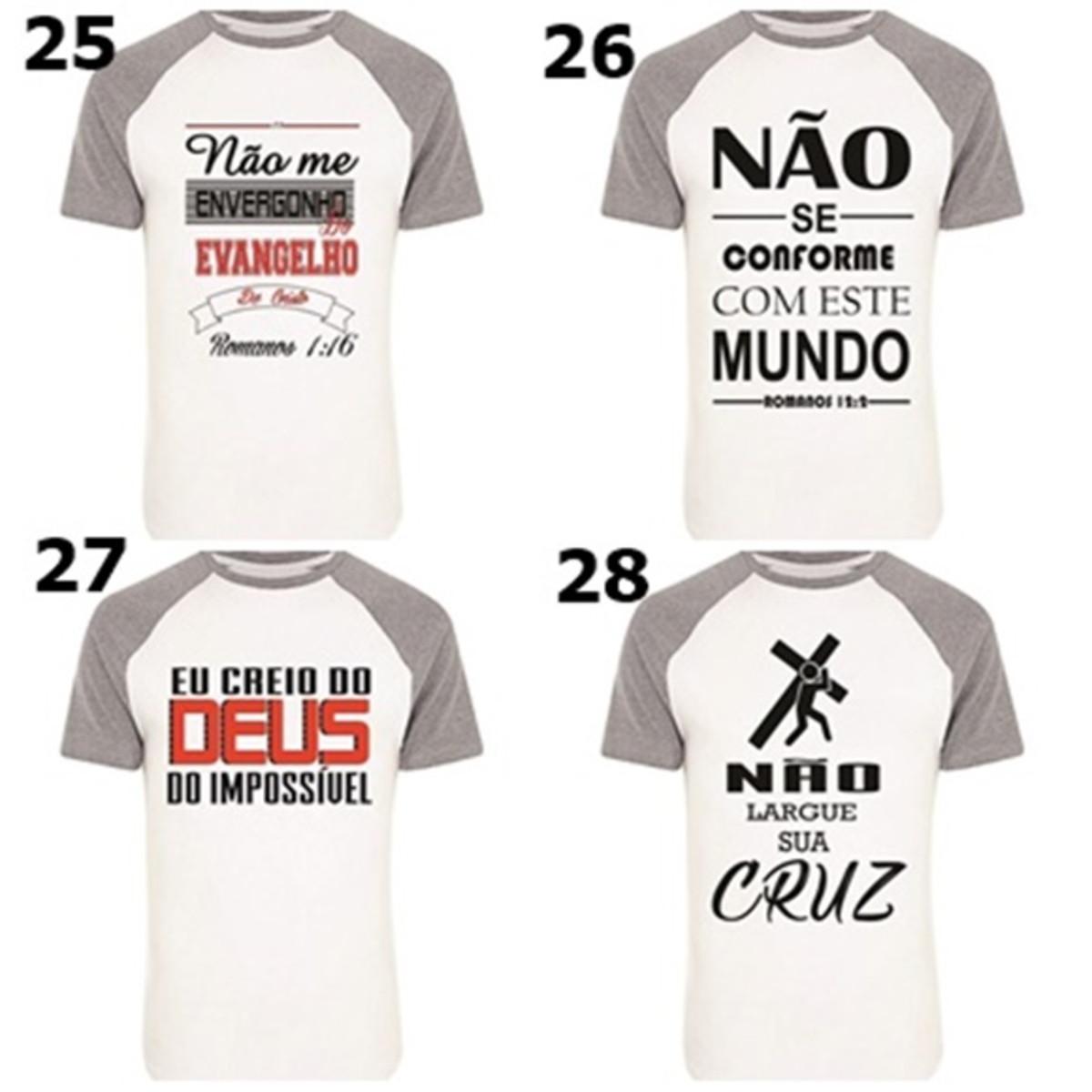 0add28005f987 5 camisas envagélicas com frases biblicas no Elo7