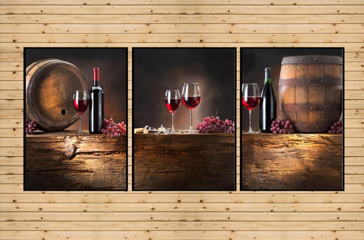 Quadro Decorativo Sala Cozinha Gourmet Vinho Wine Grande No Elo7