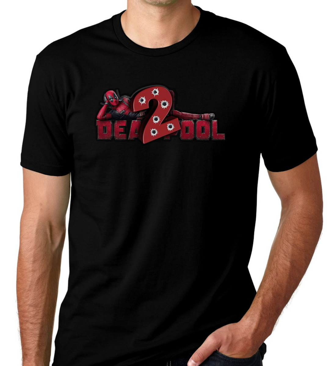 3b0808624 Camisetas Preta Super Héroi Marvel Deadpool 02 no Elo7