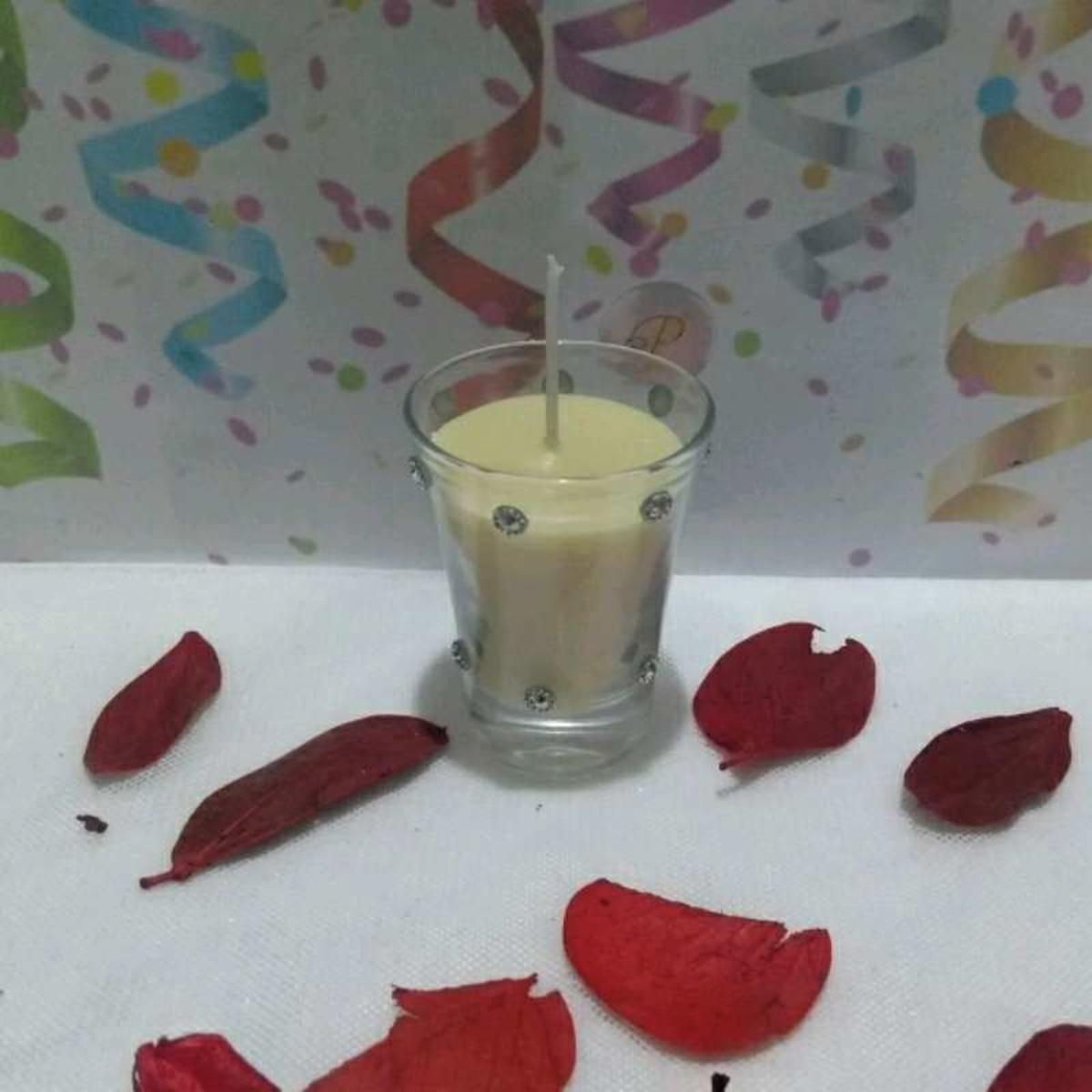 Vela de Massagem Copo Dose 60ml Brinde Candle Massage