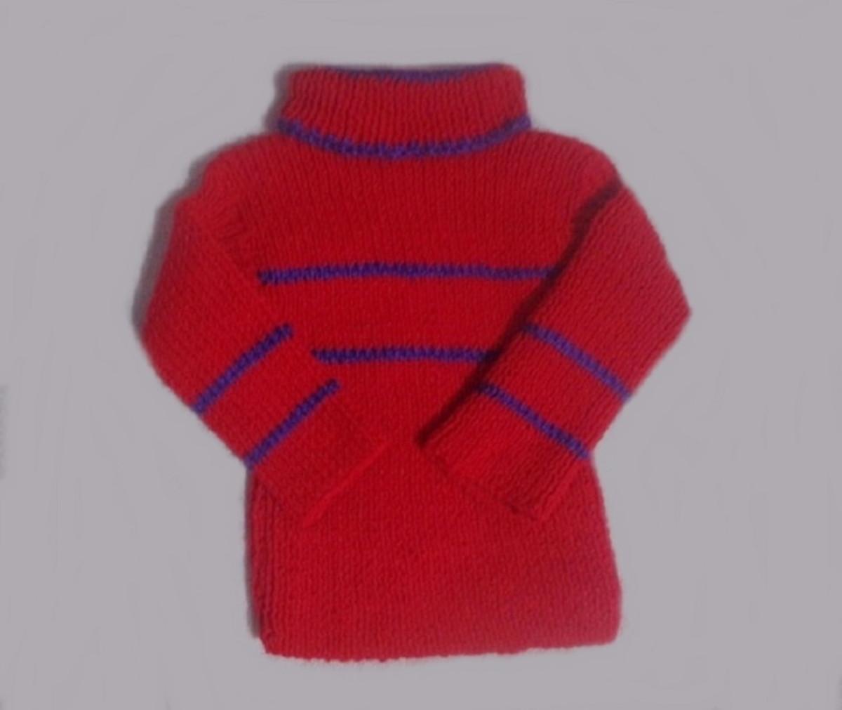 Blusa tricô à mão para criança 2 anos no Elo7   Roupas de bebê ... 8ff6f19bba
