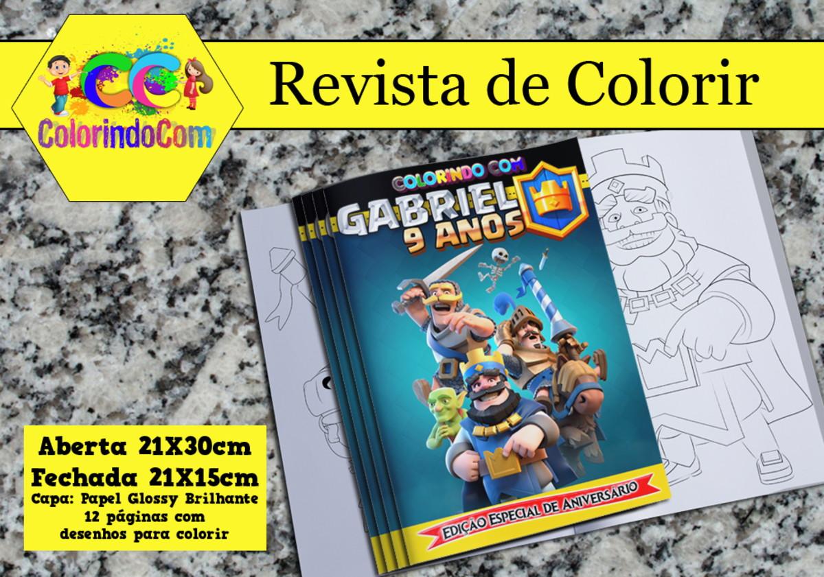 Revista De Colorir Clash Royale Lembracinha De Aniversario No Elo7