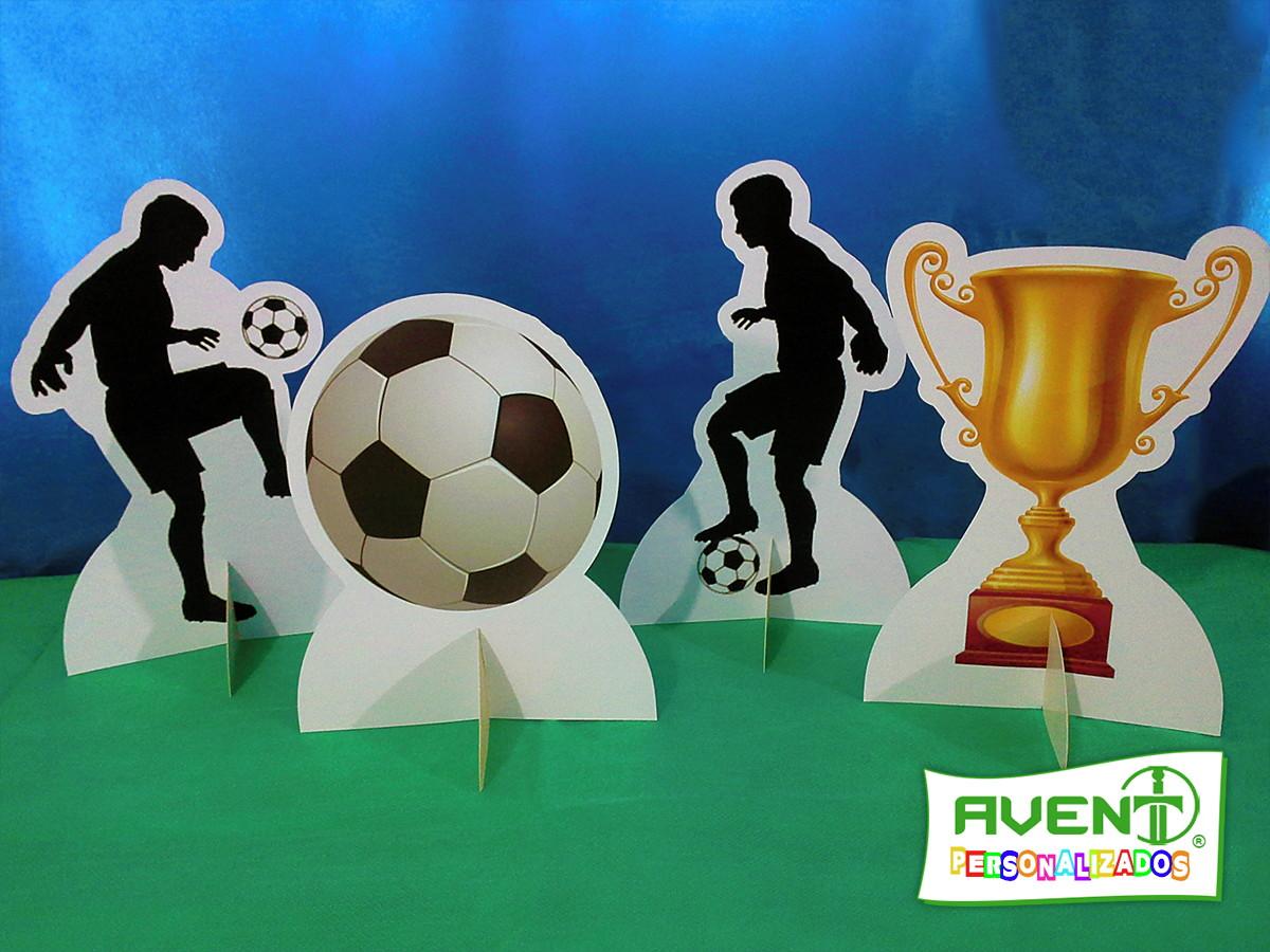 08b1d8bfee Display de Mesa Tema Futebol kit com 04 displays no Elo7