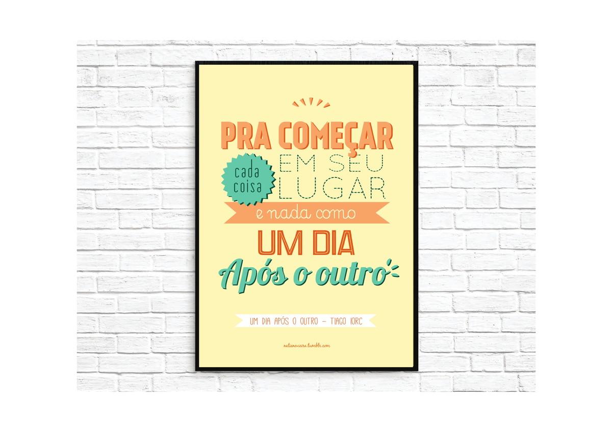 Poster A3 Frases No Elo7 Julia Duarte C4ea51
