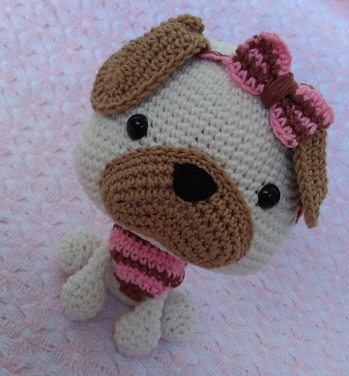 Tiny Potato Pug amigurumi free crochet - Amigu World | 1200x1116