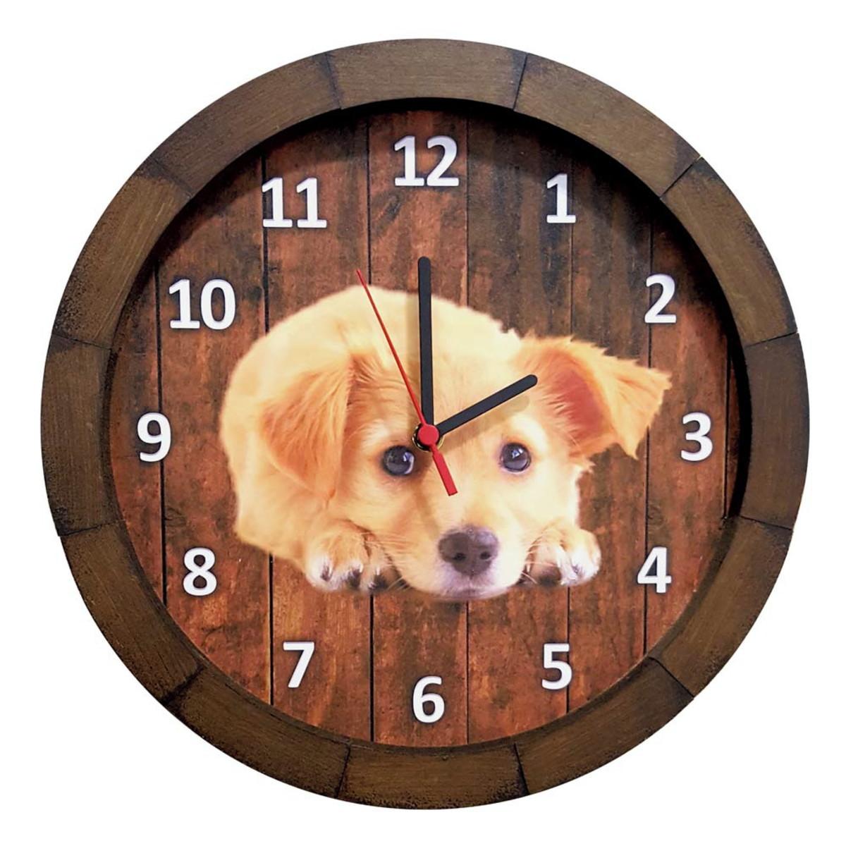 b7dc9345bab Relógio De Parede Personalizado Fotos Pets Animais Temas no Elo7 ...