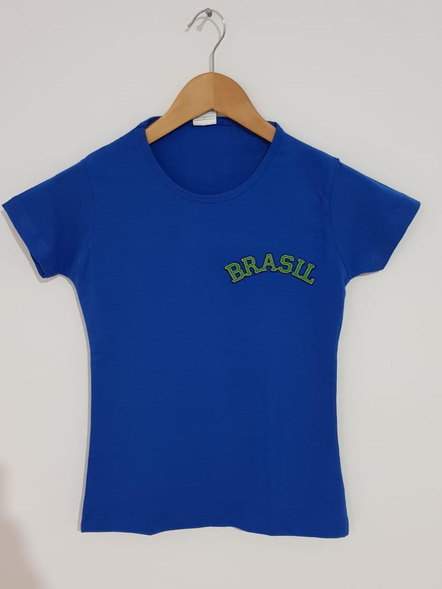 4a08865e38 Camiseta Copa do Mundo (Brasil) Personalizada Feminina PP no Elo7 ...