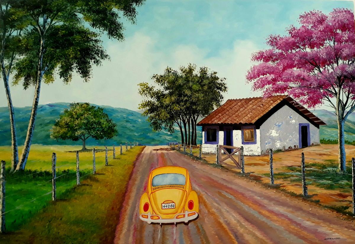 pintura em tela meu fusca no elo7 pintura em tela osório