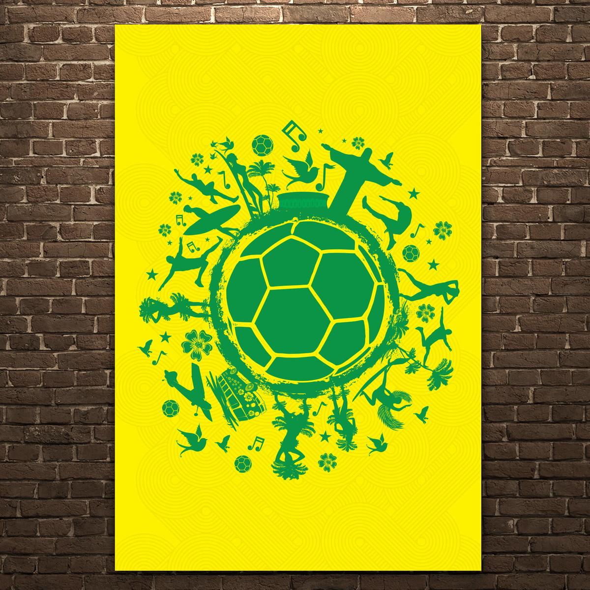 Placa Decorativa MDF País do Futebol Verde Amarela 30x40cm no Elo7 ... 4311811706501