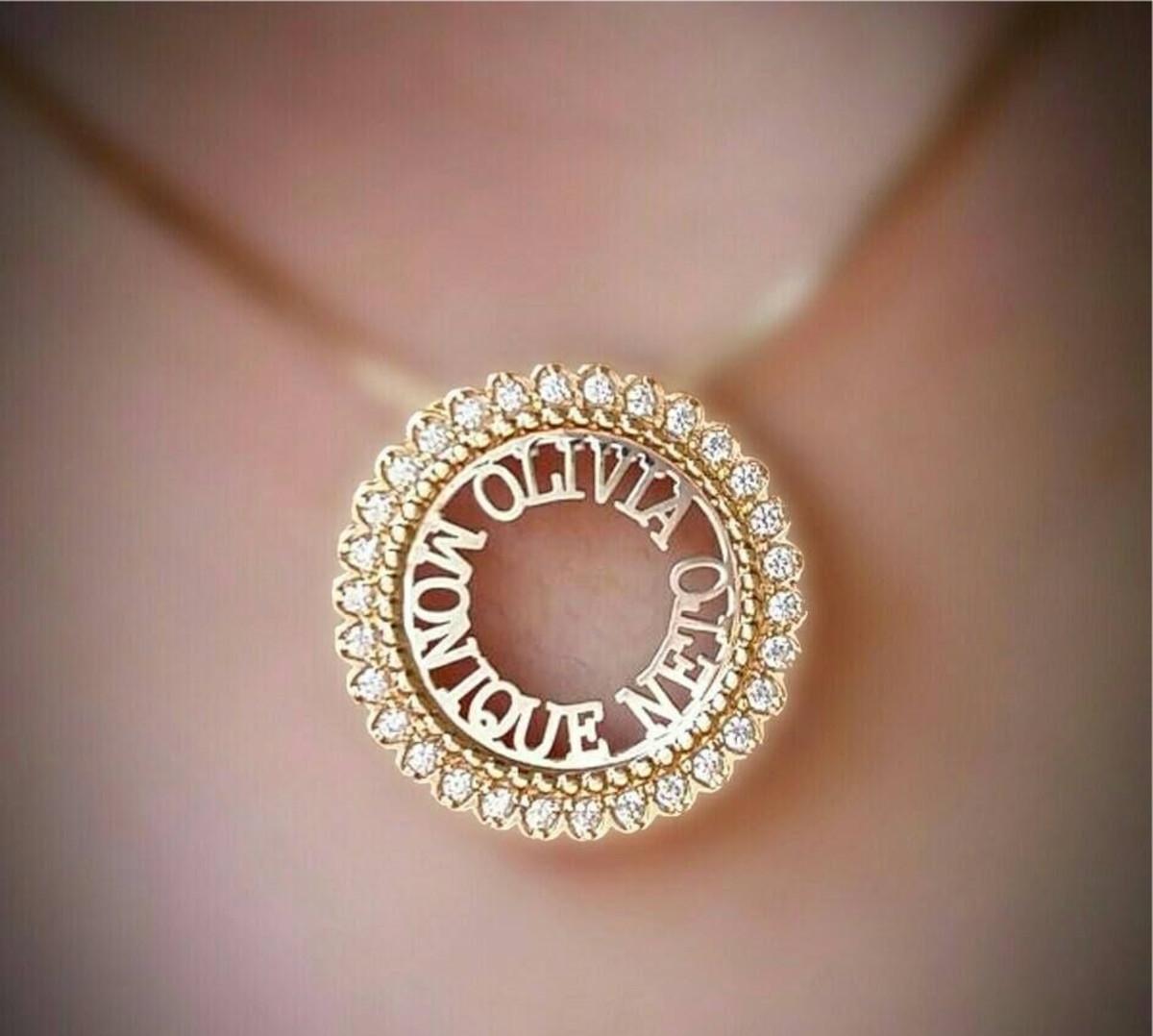 bd52ce552310b Mandala Borda Cravejada Personalizada - Ouro no Elo7