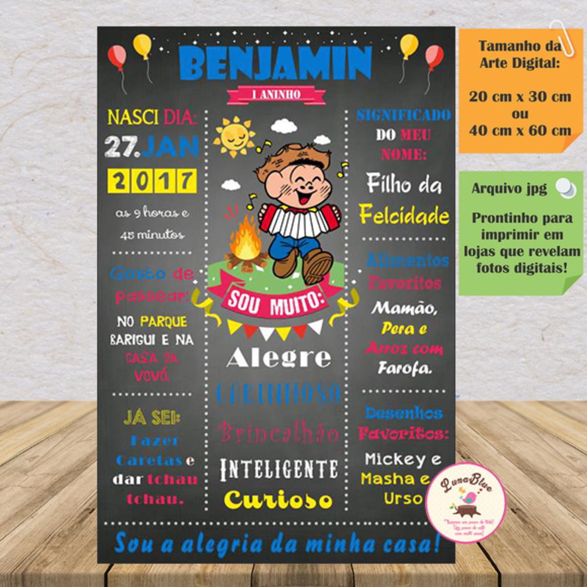 Chalkboard Arte Festa Junina Menino No Elo7 Lunablue Store C52955