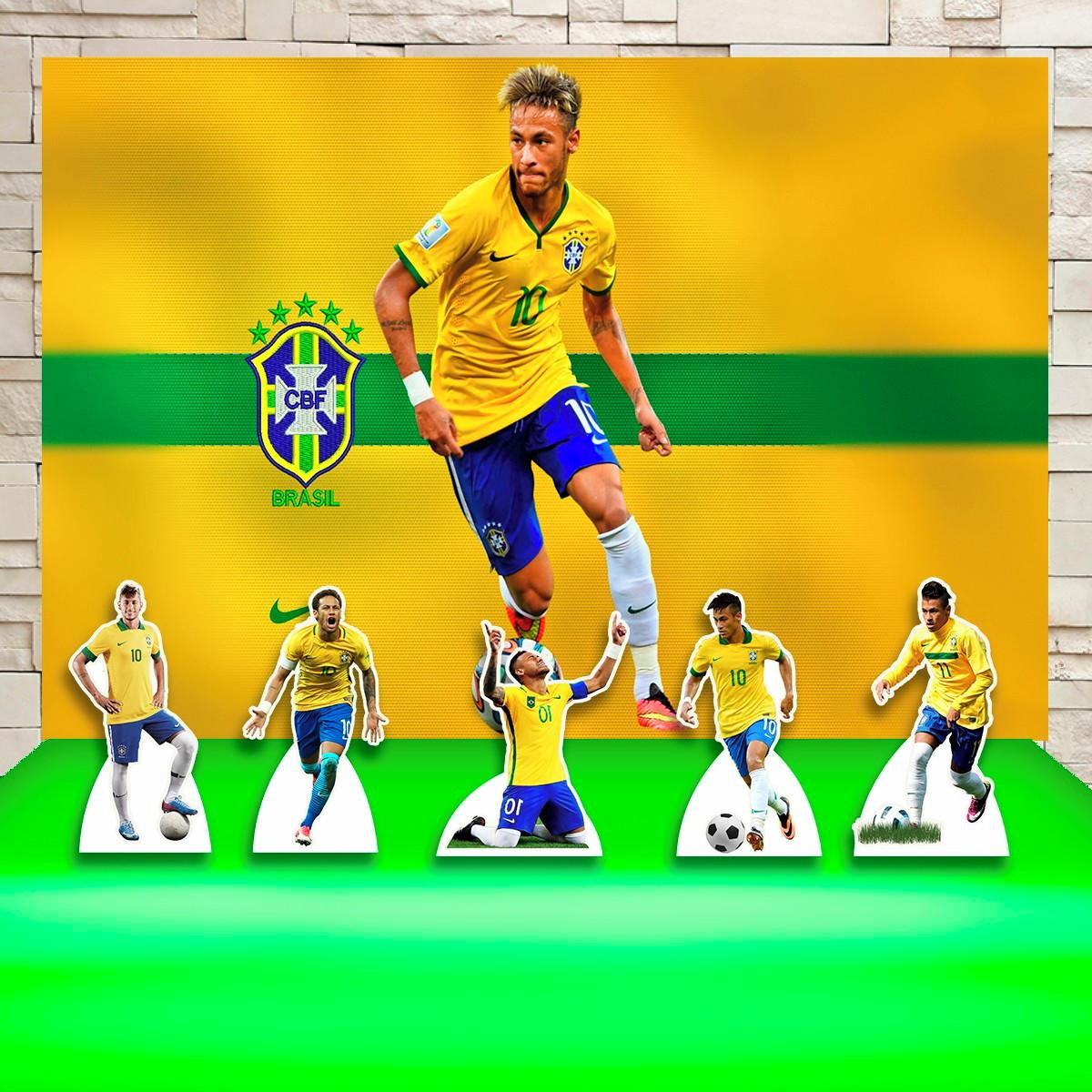 d19981400b8c30 Kit Festa Prata Painel + Display Futebol Jogador Neymar no Elo7 ...