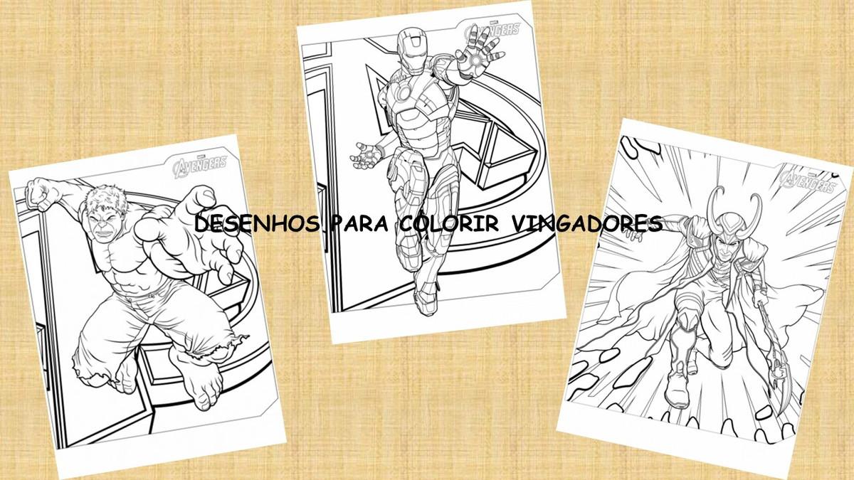 arte digital desenhos para colorir vingadores no elo7 rocha