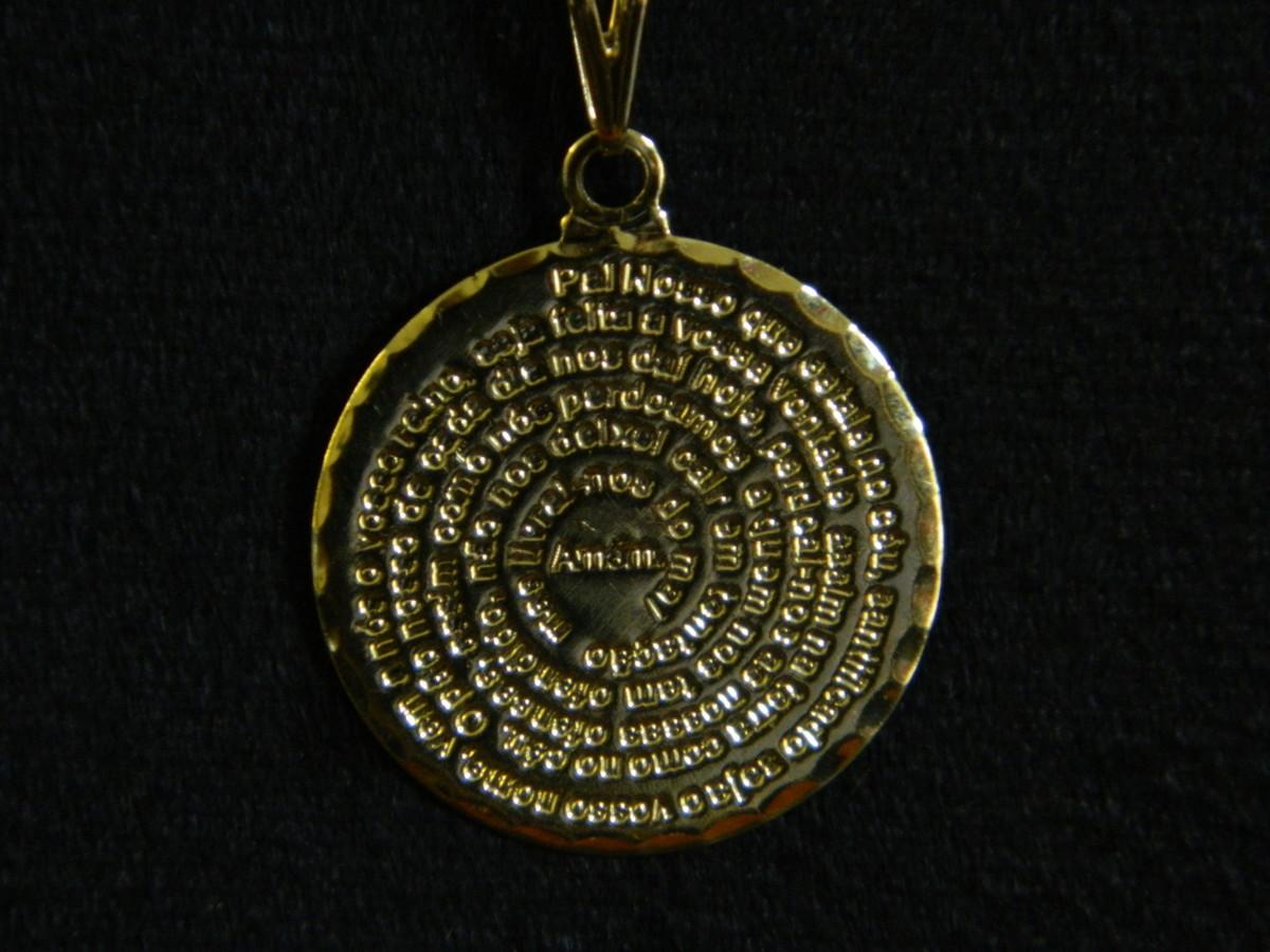 Corrente 3x1 + Pai Nosso Folheado a Ouro no Elo7   MG E-COMMERCE ... 346d07960c