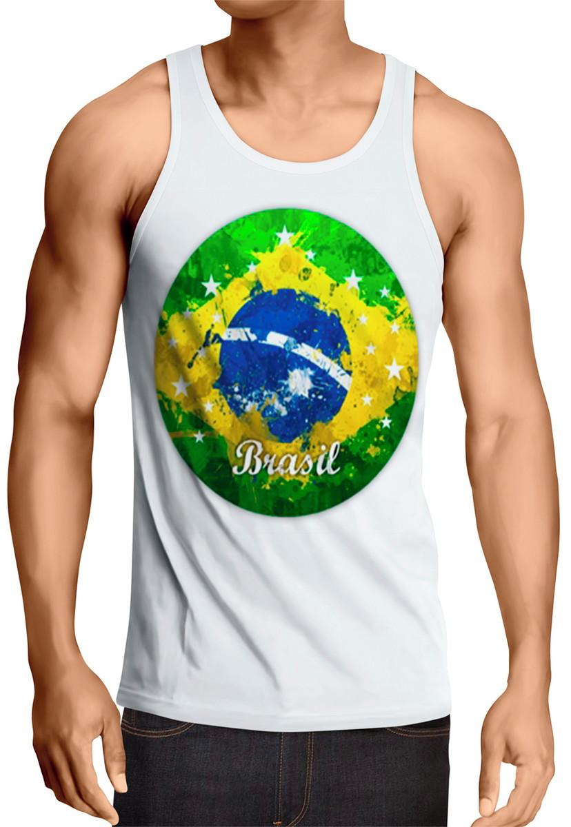 Camiseta Regata Camisetas Roma Brasil branca no Elo7  da5cd13ec49c5