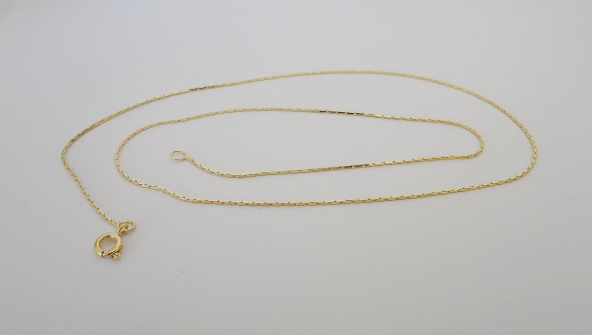 Corrente Folheada a Ouro - Lisa - 55 cm no Elo7   Pedra do Sol ... a2447ca930