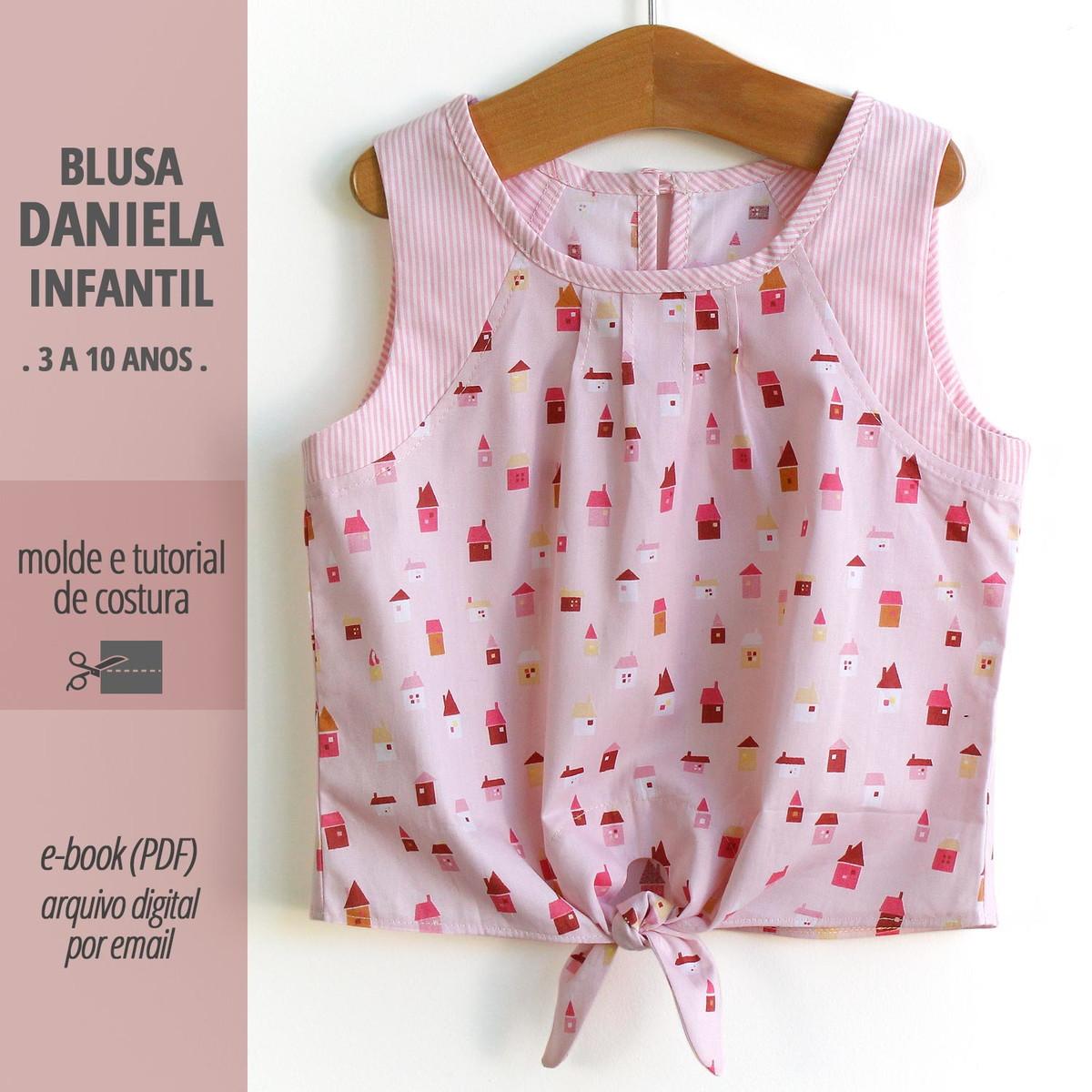 Blusa Daniela Inf Pdf Digital Molde E Tutorial De Costura No