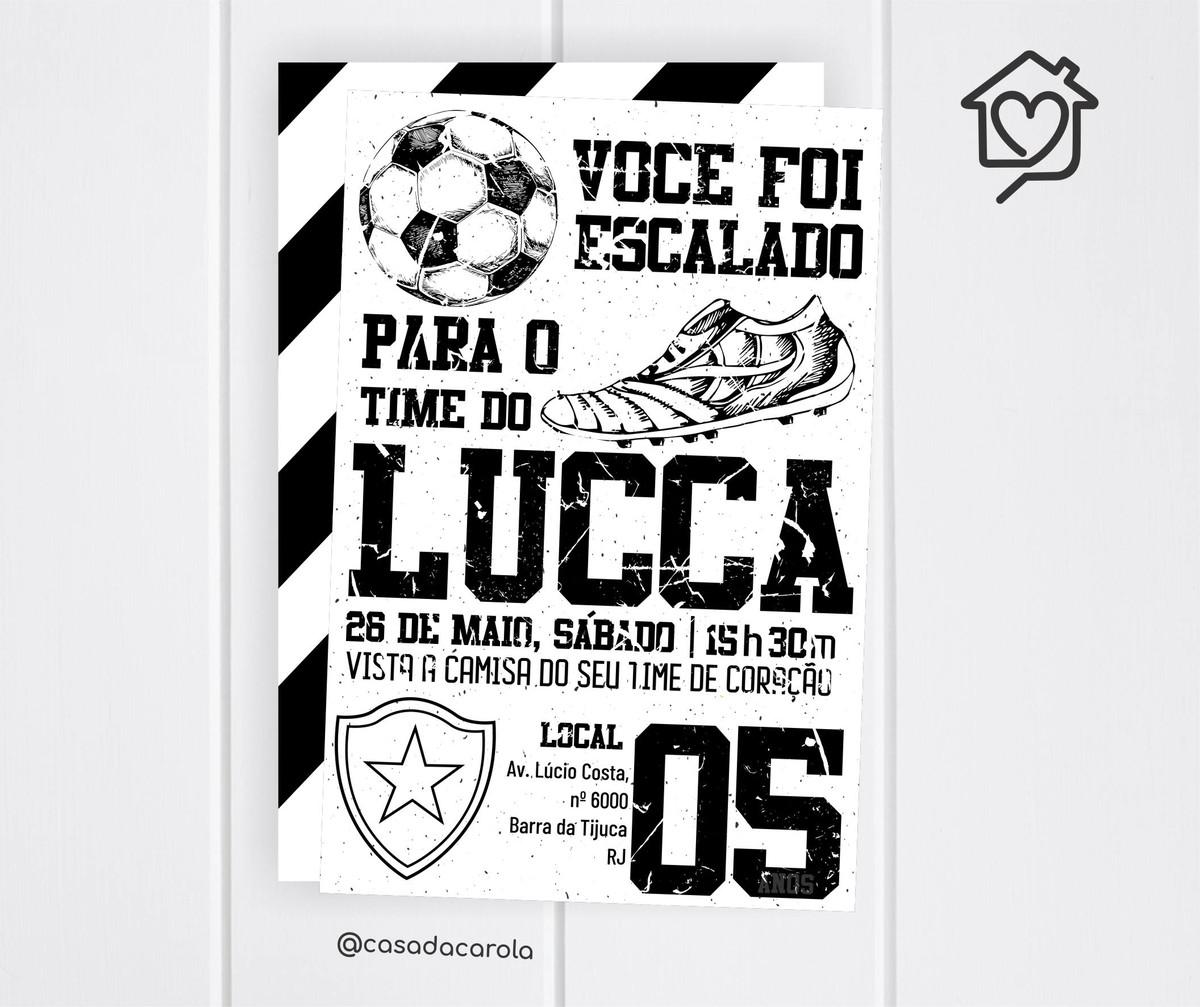 1ab5d3a5bd Convite Futebol Botafogo no Elo7