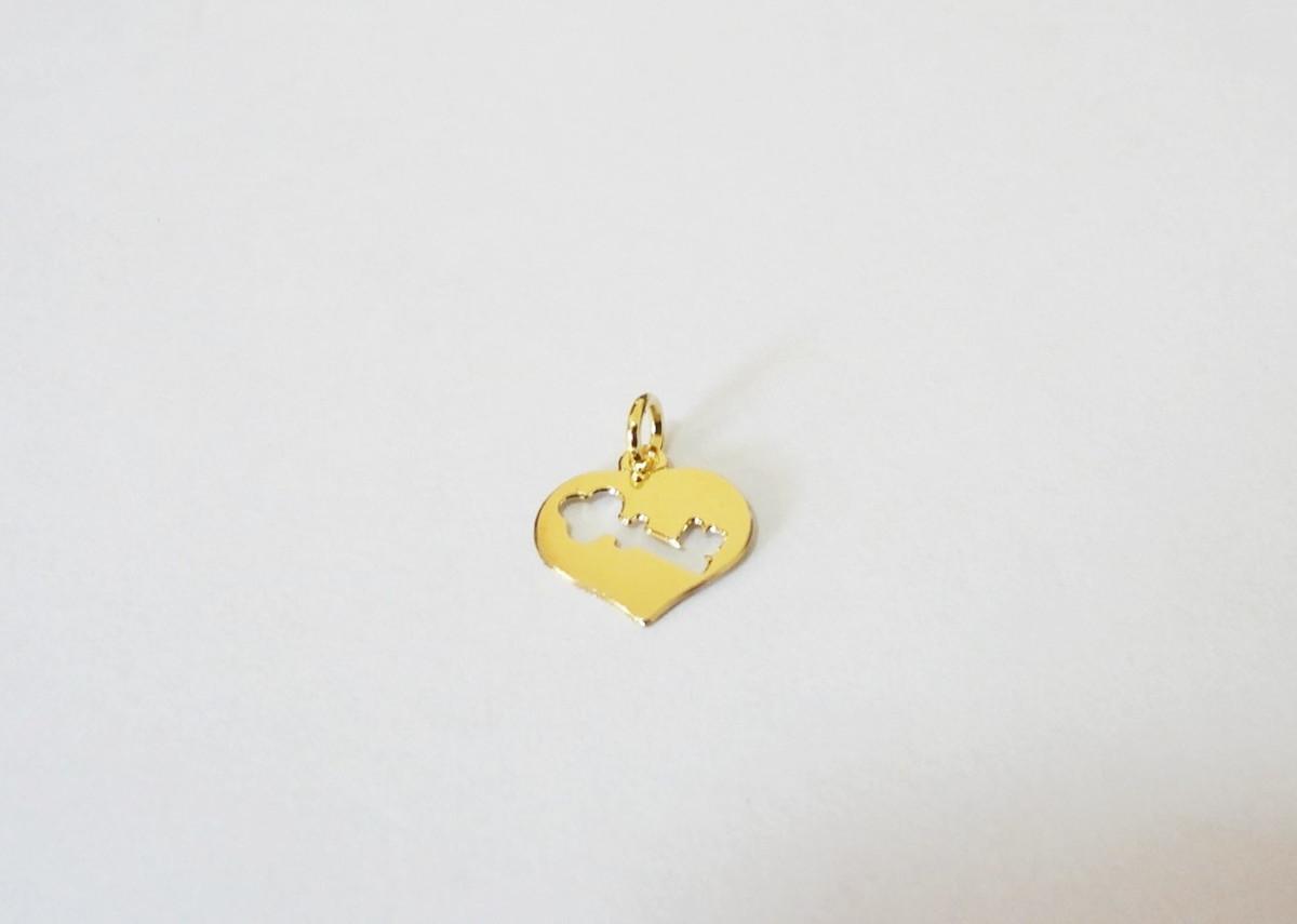 923f5eae0edb6 Pingente Folheado a ouro - A Chave do Meu Coração no Elo7   Pedra do ...