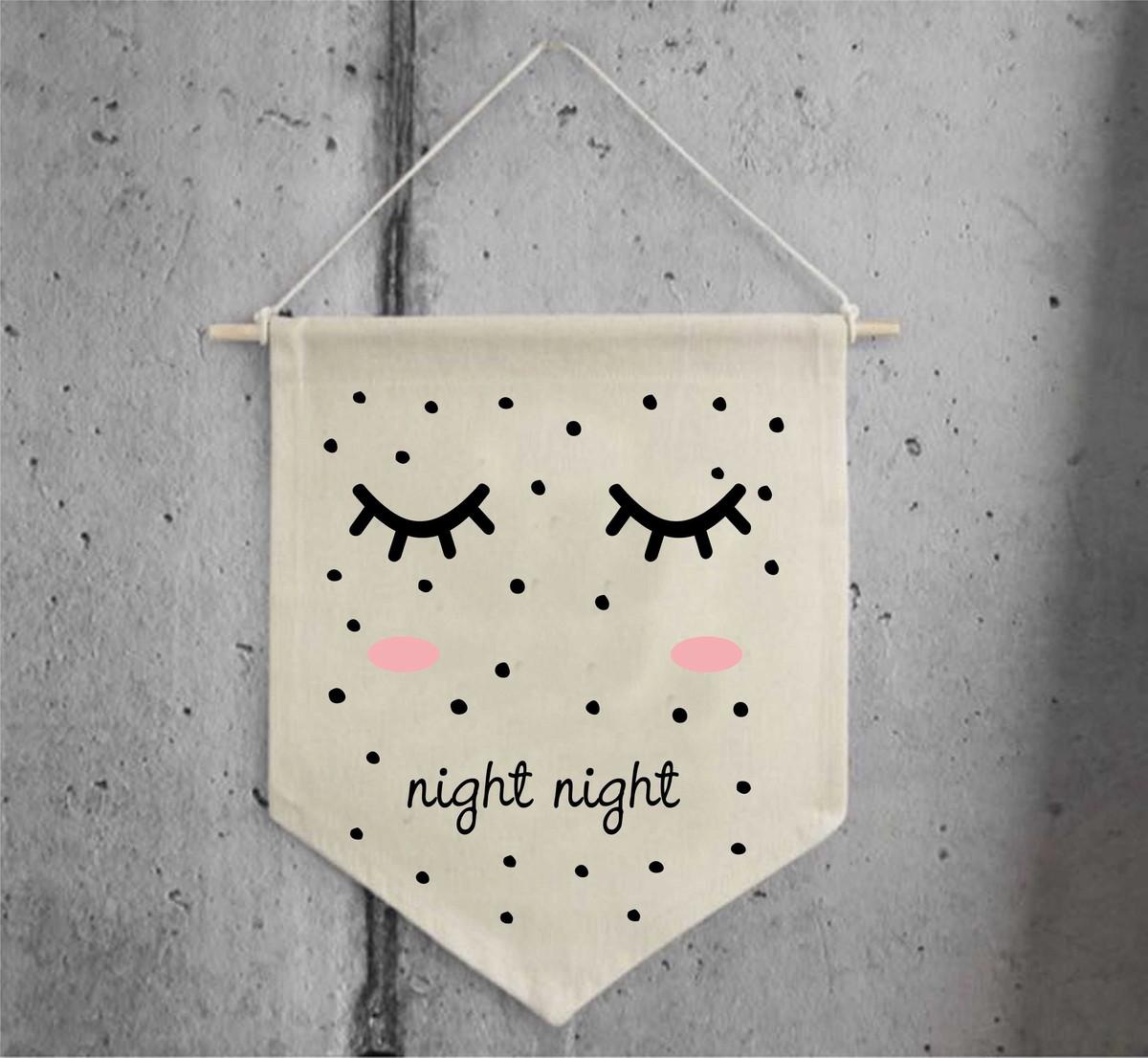 9b99d484dc Flâmula Decorativa Night Night no Elo7