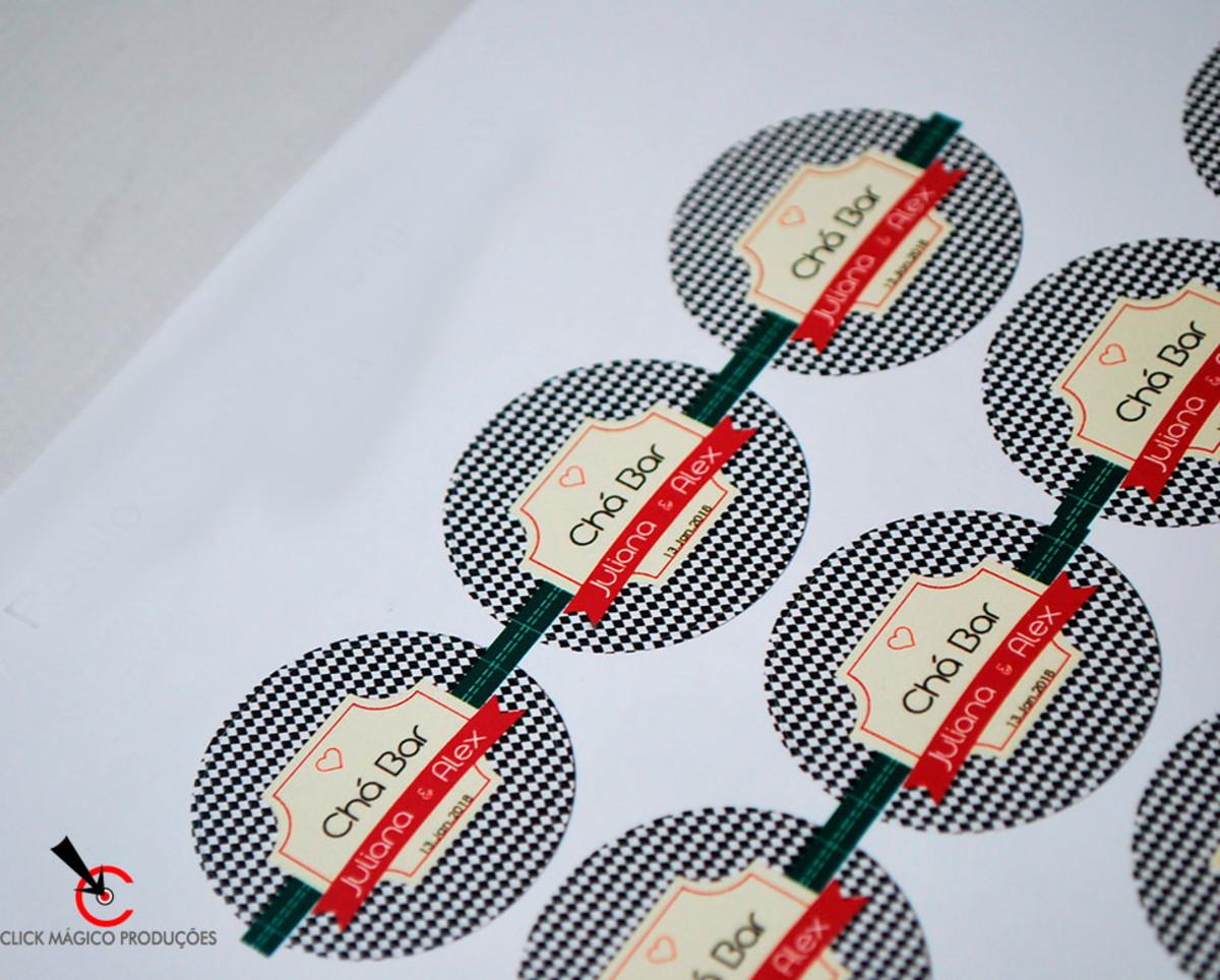 0eff6a3047828 Rótulo adesivo de 5cm - Boteco Logo Vermelho e Creme no Elo7