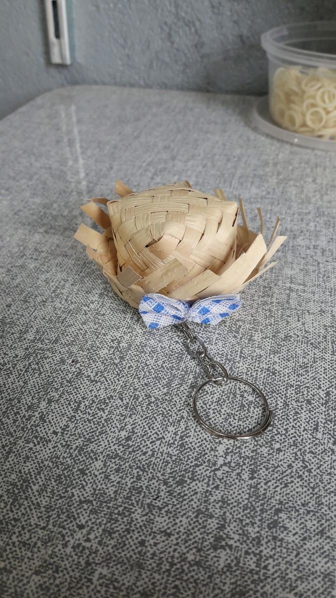 Chaveiro Mini Chapéu de Palha no Elo7  9a81e8e875d